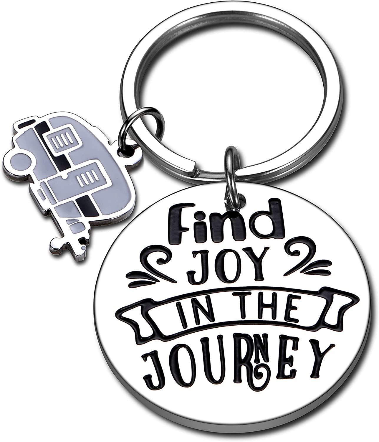 2021 Camper Decor for Travel Trailers Inside RV Camping Accessories for RV Owner Graduation Keychain Gifts Retirement Gifts for Women Men Coworker Her Funny Happy Camper Motorhome Decorations