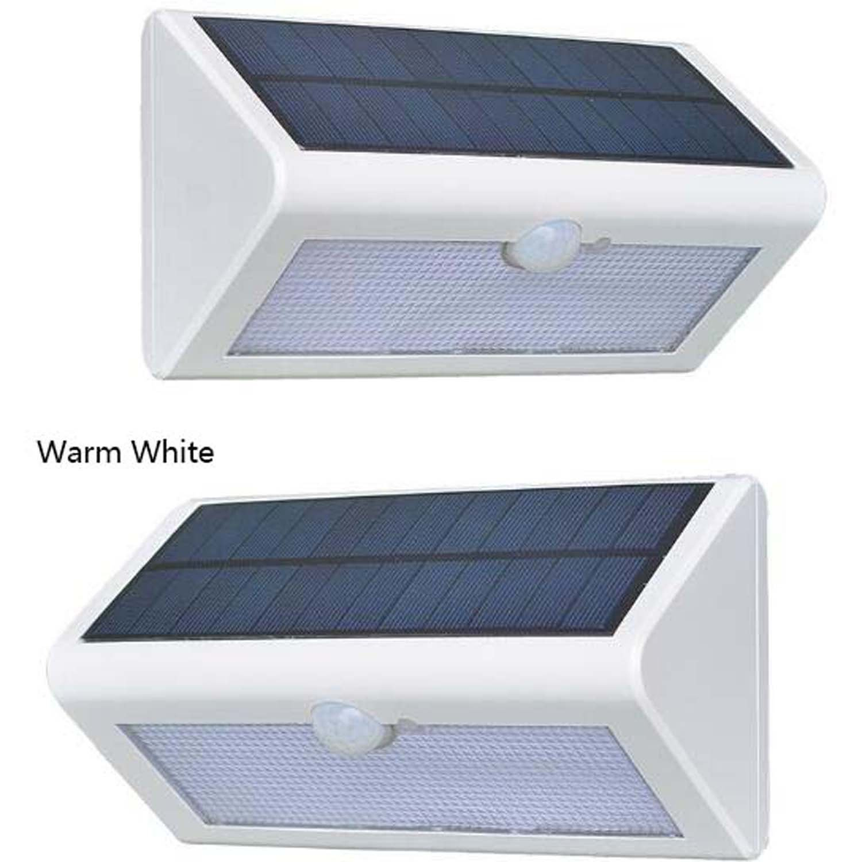 alta qualità e spedizione veloce Luci a LED per esterni Lampade da giardino a a a LED a forma di triangolo con luci a LED per illuminazione a infrarossi, giardino, corridoio, corridoio, garage (colore   Bianca-Bianca)  economico e alla moda