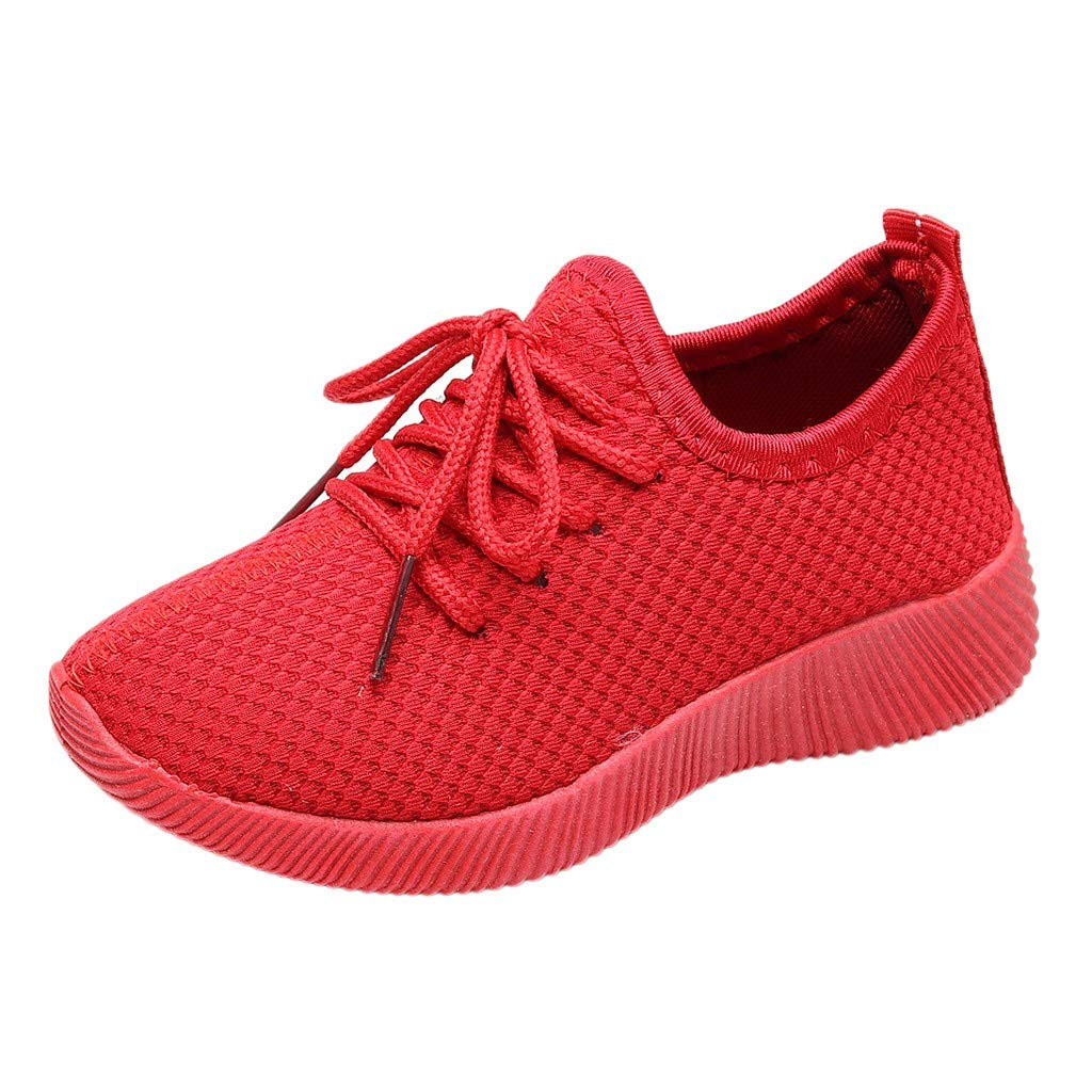 Kids Baby Girls Boys Sneakers,SIN vimklo Solid Color Lace Mesh Casual Running Casual Shoes,3-13 Years