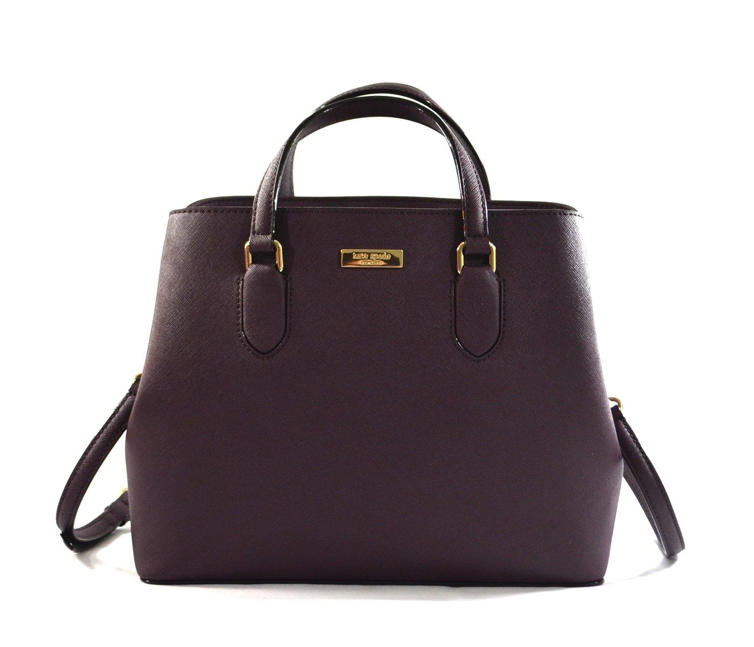 Kate Spade New York Laurel Way Evangelie Saffiano Leather Shoulder Bag Satchel (Mahogany/Wine)