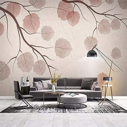 Amazon.com: Wall Mural 3D Wallpaper Minimal Twigs Leaves ...