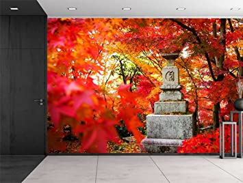 Wall26   Japanese Statue On A Japanese Garden   Wall Mural, Removable  Sticker, Home