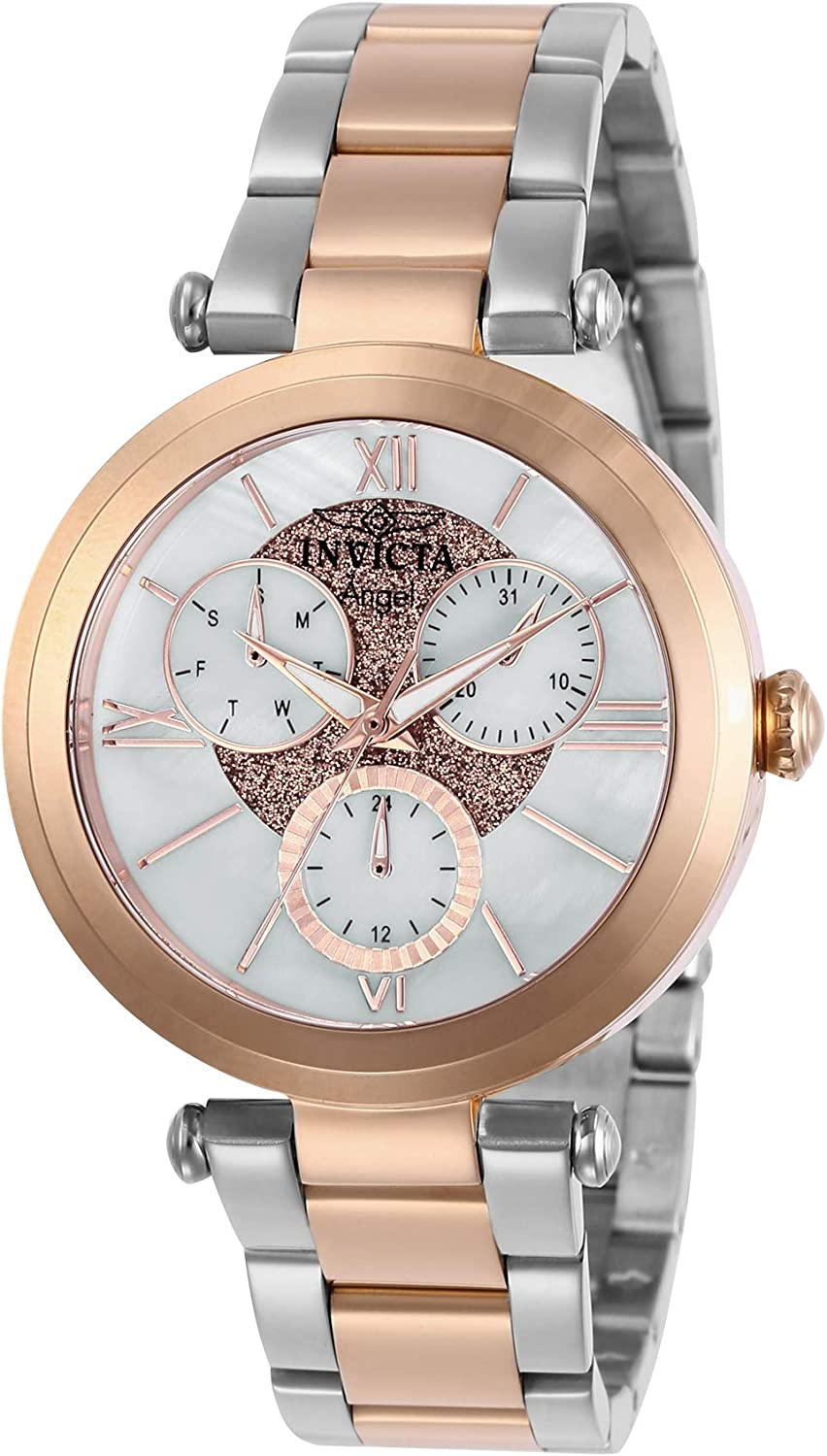 Invicta Women's Angel Quartz Watch with Stainless Steel Strap, Silver, 18 (Model: 28932)
