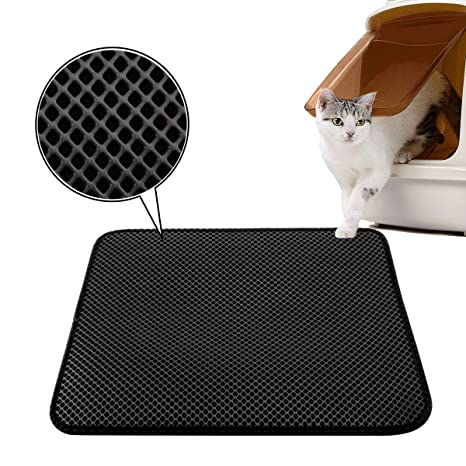 Luxebell - Alfombra para arena de gatos (50 x 40 cm, impermeable, con