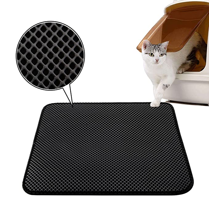 Luxebell - Alfombra para arena de gatos (50 x 40 cm, impermeable, con 2 capas), color negro: Amazon.es: Productos para mascotas