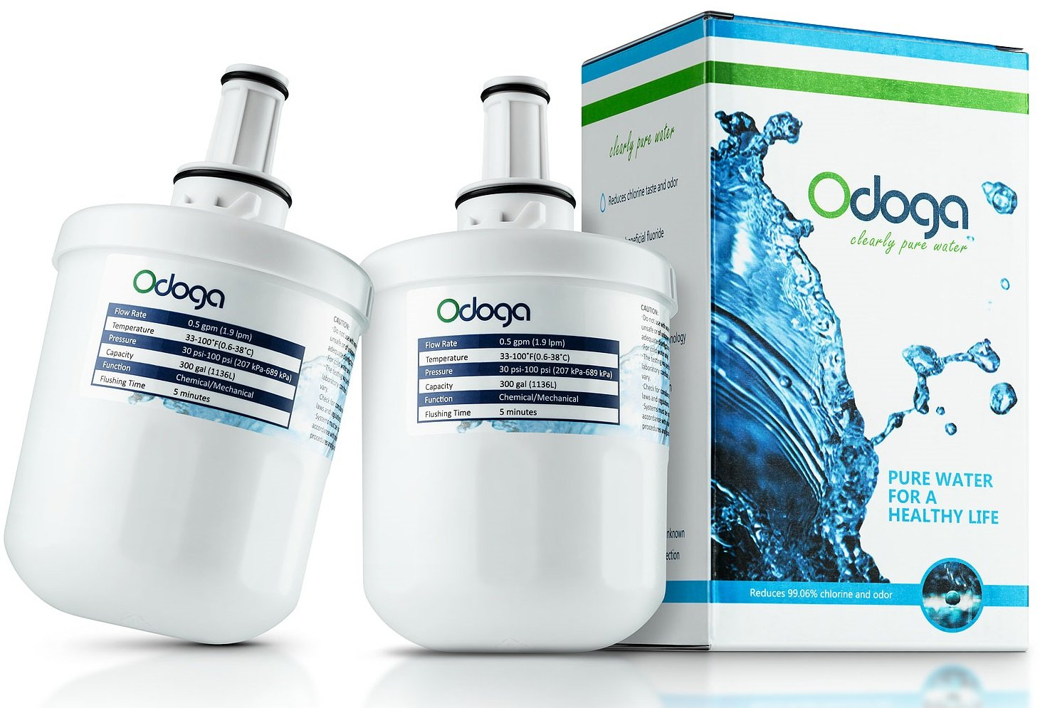 Odoga DA29-00003G Filtro Acqua Compatibile Con Frigoriferi Whirlpool Samsung Aqua Pure PLUS DA29-00003G, DA29-00003F, DA29-00003B, DA29-00003A, HAFIN1 EXP