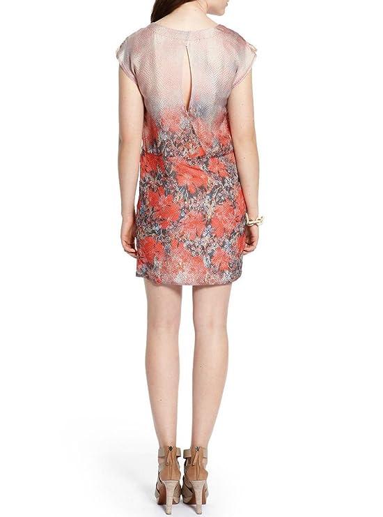 BOSS Hugo Vestido Vestido mujer TG. 38 Mod. aketa-w Col. Rojo 100 seda: Amazon.es: Ropa y accesorios