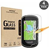 (Pack of 4) Tempered Glass Screen Protector for Garmin Oregon 600(t) / 650(t) / 750 GPS, Akwox 0.3mm 9H Hard Scratch…