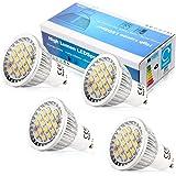ELINKUME 4 x AC95-240V 2800-3200 K Warm White 5.5W GU10 16 SMD 5630 LED Energy Bulbs