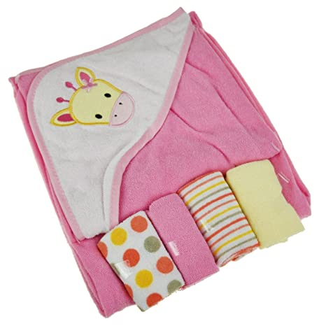Toalla con capucha suave para bebé, 4 paños de lavado de franelas, juego de