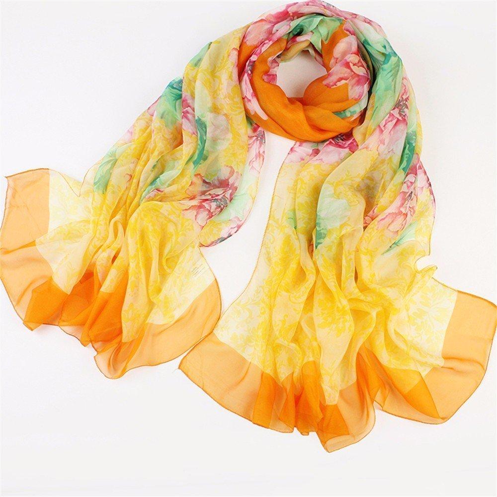 DIDIDD Bufanda-verano dama gasa bufanda bufanda chal playa protector solar decoración,H