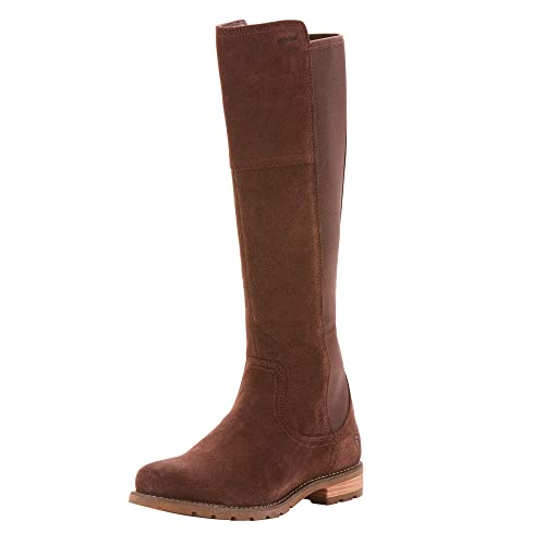 Ariat Women's Sutton H2O Western Boot, Chocolate, 8 B US best women's knee high boots