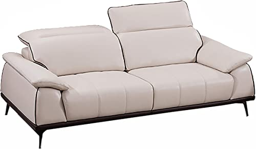 American Eagle Furniture EK526 Mid Century Modern Top Grain Italian Leather Living Room Sofa