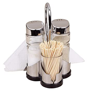 Brand new Amazon.com: Salt & Pepper Shakers with Toothpick and Napkin Holder  XG14