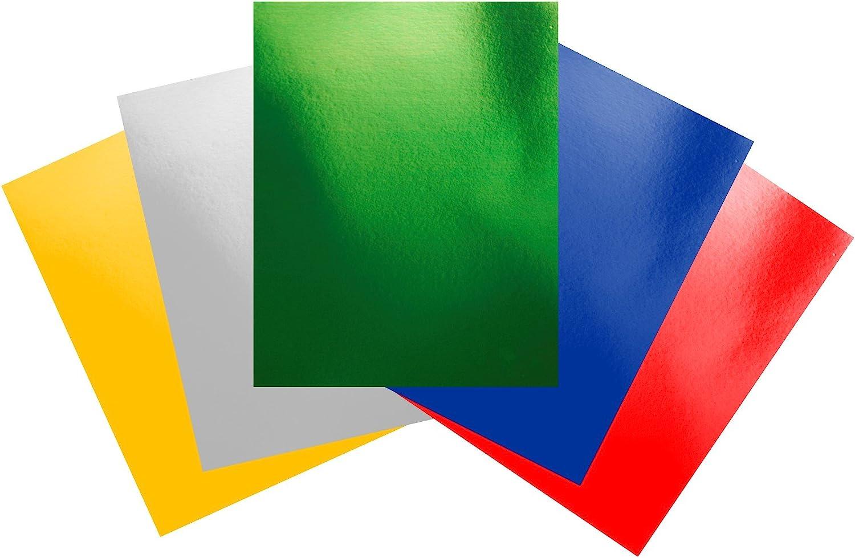 Coloured Mirror mirri metallic Cards Red Green Blue Gold Silver 210gsm