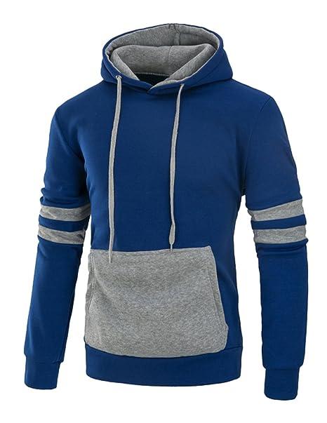 YCHENG Moda Sudaderas con Capucha Hombre Invierno Abrigos Casual Outerwear con Bolsillos: Amazon.es: Ropa y accesorios
