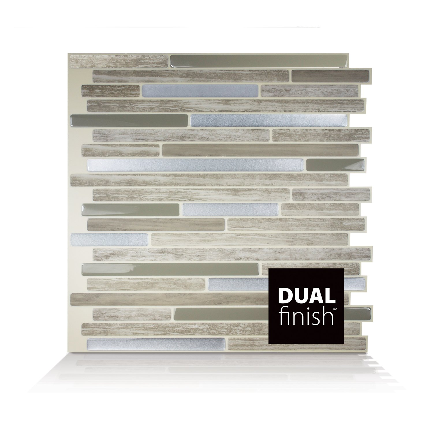 Smart Tiles Capri Taupe Dual Finish 3D Gel-Otm Piastrelle Adesive