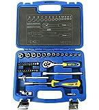 S&R nyckelsats 1/4 tum med Bits LOCK-Drive-profil 39-delad verktygsväska med bitset, magnetisk bithållare 39 st…