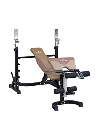 HIGH MUSTER Banco Fitness Panca Bench 890 Gris/Marrón: Amazon.es: Deportes y aire libre