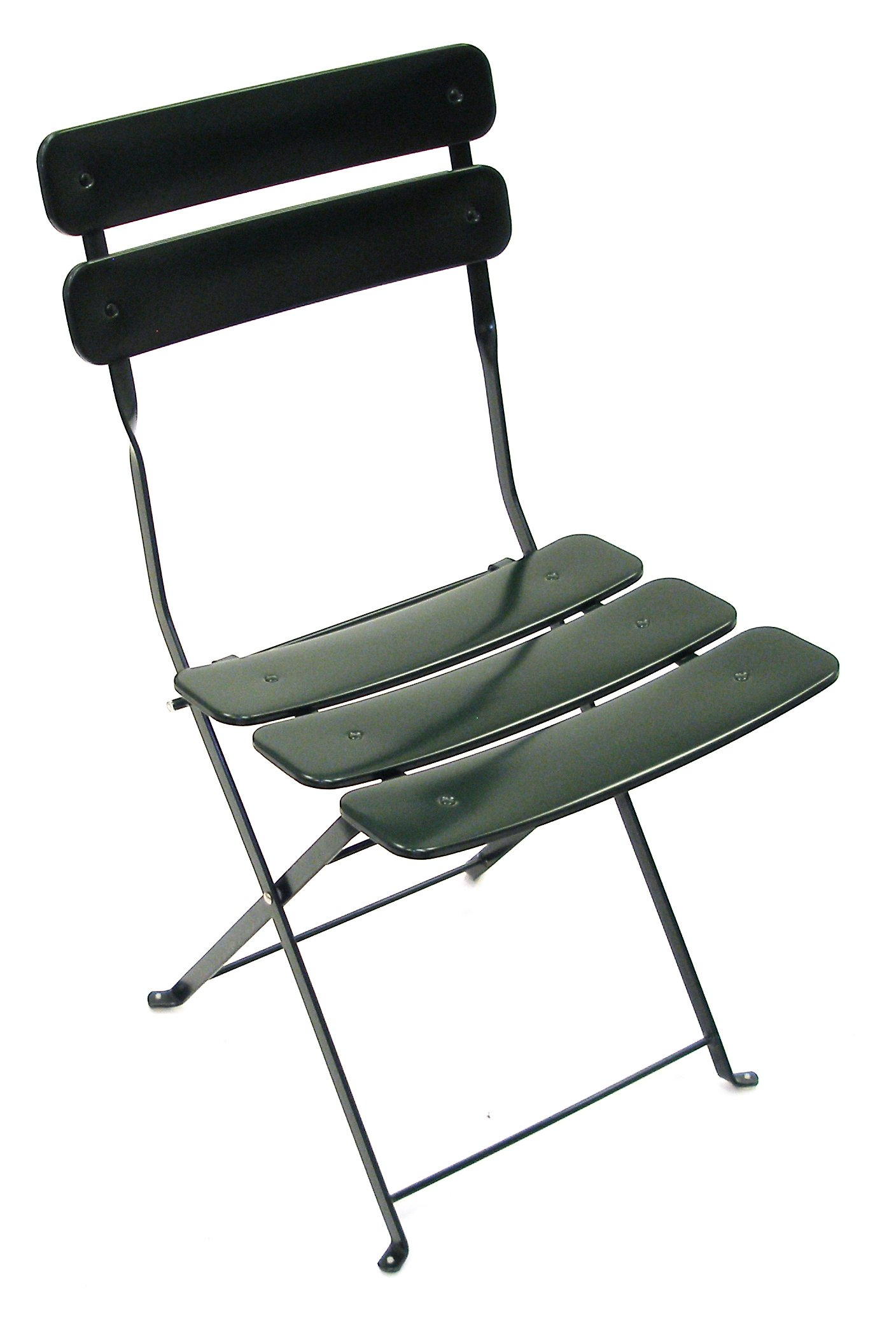 ATC Powder Coated Steel Outdoor Folding Bistro Chair, Green (Pack of 2)