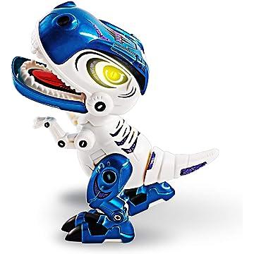 Fanxis Roaring Dinosaur Toys for Kids, Alloy Metal Mini Tyrannosaurus Rex Dinosaur with LED Light, Sounds & Phone Holder Dinosaur Toys for Toddlers Boys Girls Kids Gifts