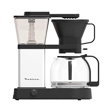 Redline MK1 8 Cup Coffee Brewer with Glass Carafe, Hot Plate and Pre-Infusion Mode (Summer 2018 Refresh)