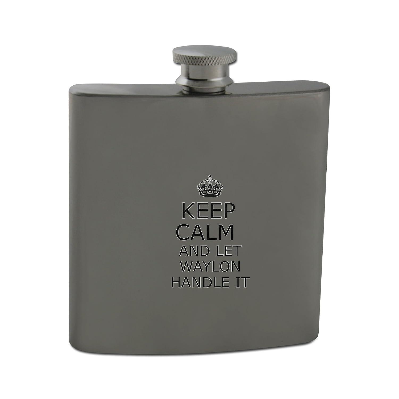 Handle it WAYLON Keep calm 6oz Stainless steel hip flask