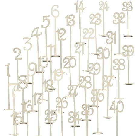 rosenice para números de mesa soporte de madera 1 - 40 para ...