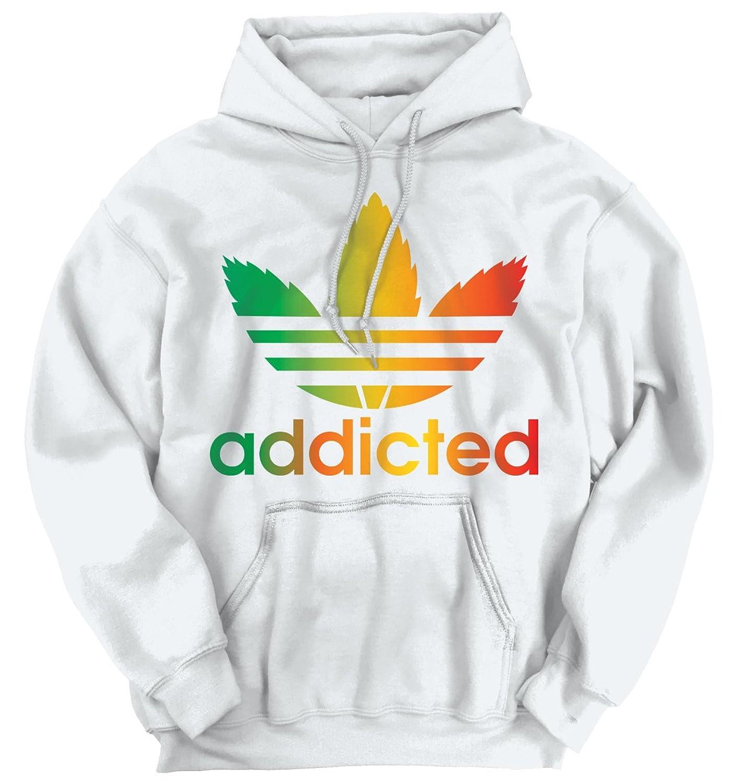 Addicted Funny Parody T Shirt Rasta Pot Leaf Weed Smoking