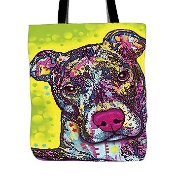 Cute Series bolsas de bolsa de Malta personalizada arte mascota perros de compras bolsas de mango