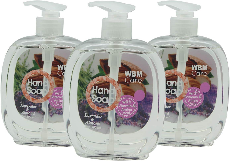 WBM Care Hand Soap - Lavender & Almond, 500 ml (3-pack)