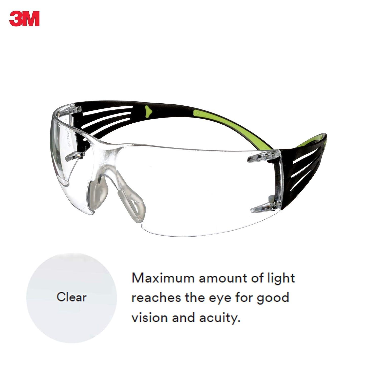 3M SecureFit Protective Eyewear SF401AF, Clear Anti-fog Lens, 20 EA/Case