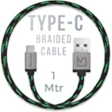 iVoltaa Pixie Type-C to USB 2.0 Braided Cable - 4 Feet (1.2 Meter) - Yoda Green