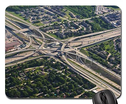 Amazon com : Mouse Pad - Ariel View Panorama Panoramic Highways City