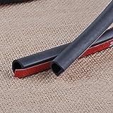 FidgetFidget Rubber 8M Big D-Shape Moulding Black