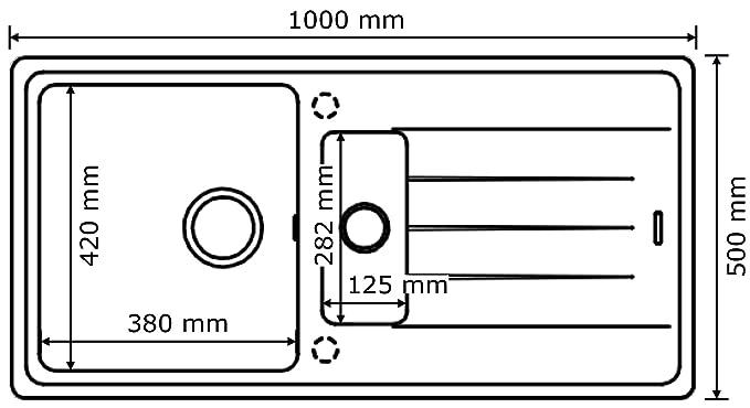 Küchenspüle Granitspüle Victory 1000 weiß 60er Unterschrank: Amazon ...