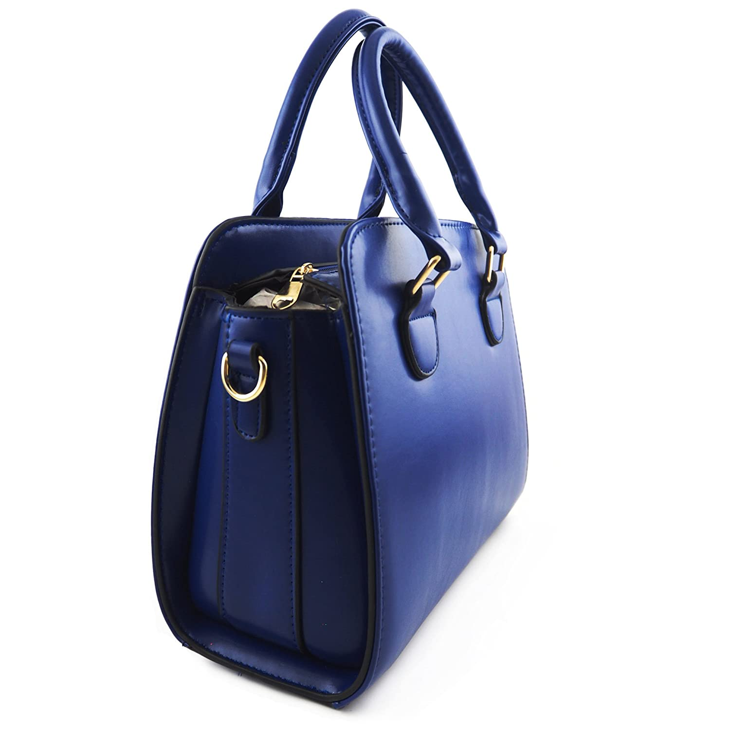 Amazon.com   Minch Women PU Leather Designer Tote Handbags Shoulder Bags  for Work on Clearance (Blue)   Sports   Outdoors def74bae04