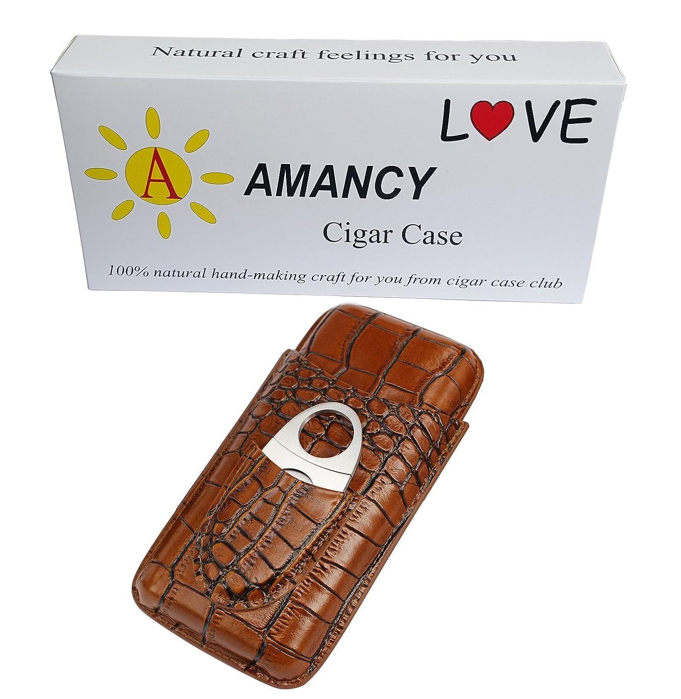 Amazon.com: amancy Classic Brown Cocodrilo Funda de piel ...