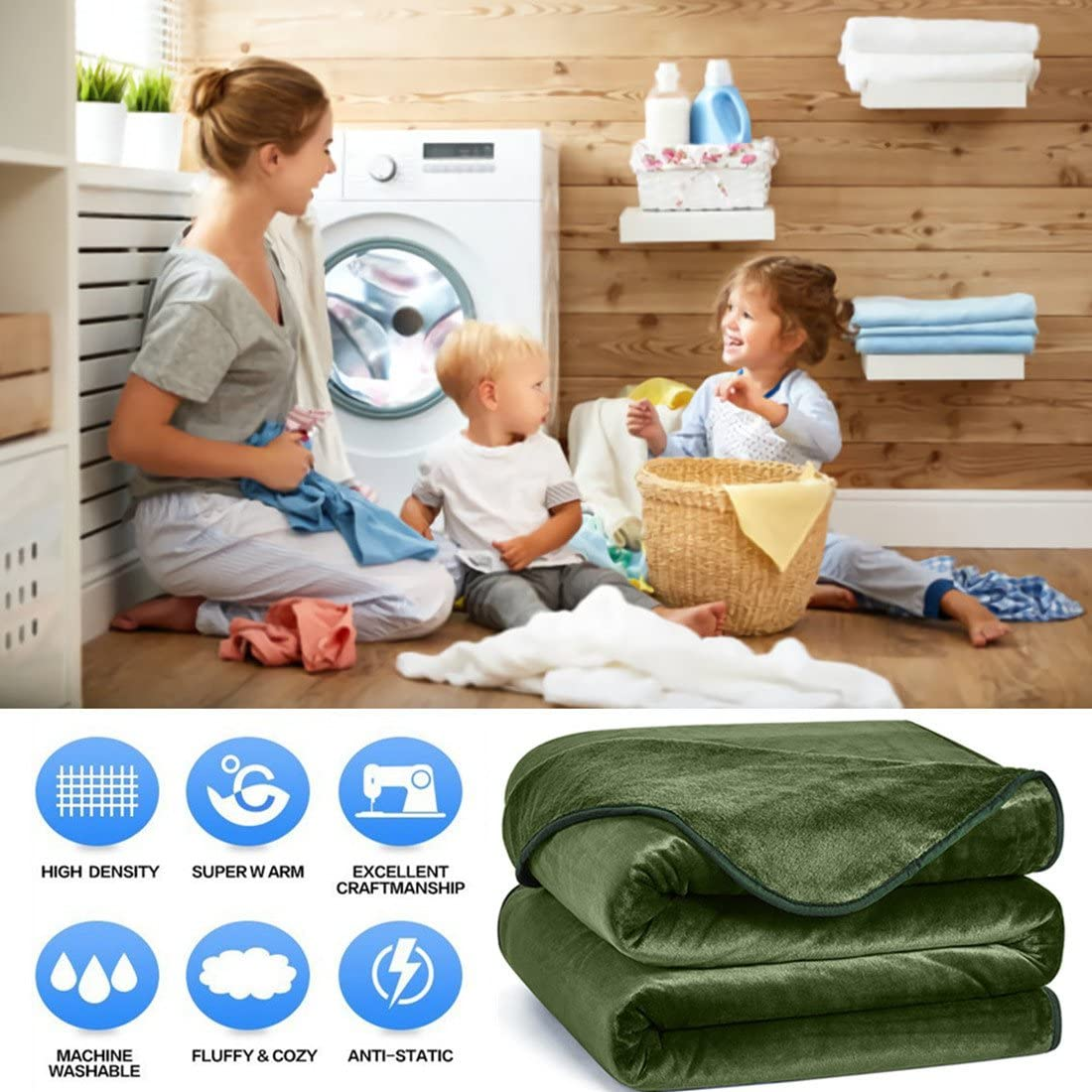 Winter Soft 350GSM Warm Blankets Thick Blanket for Home Bed Blankets King Size Charm Heart Fleece King Blanket Chocolate 90/×108 in