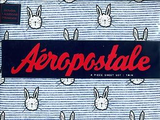 Bunnies Bunny Rabbits 4-Piece Twin Sheet Set Aeropostale Sheets Stripes