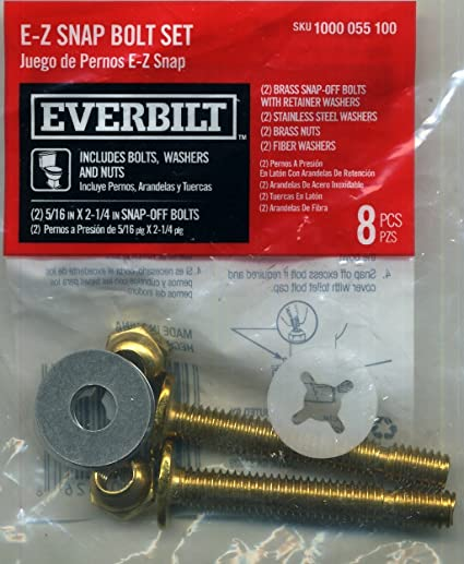 Everbilt 5/16 in. x 2-1/4 in. Brass Toilet Bolts with Nuts ...