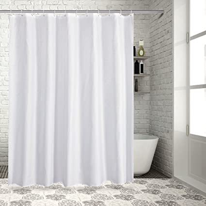 Sable Mildew Resistant Shower Curtain For Bathroom With Rustproof Grommets And Plastic Hooks 100