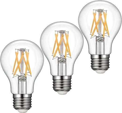 2700K, 15 Pack Dimmable LED Edison Light Bulbs 60 Watts Equivalent E26 Base A19 Clear 7 Watts LED Filament Bulbs 810 Lumen 360 Degree Beam Angle 2700K 4000K 5000K