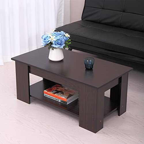 JAXSUNNY Wood Lift up Top Coffee Table