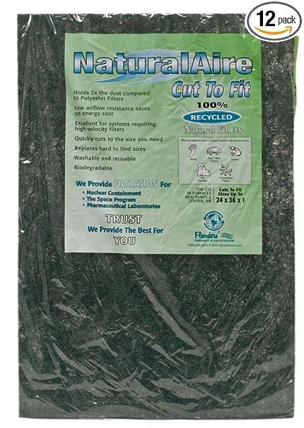 Naturalaire Cut To Fit Natural Fiber Air Filter Merv 4 24 X