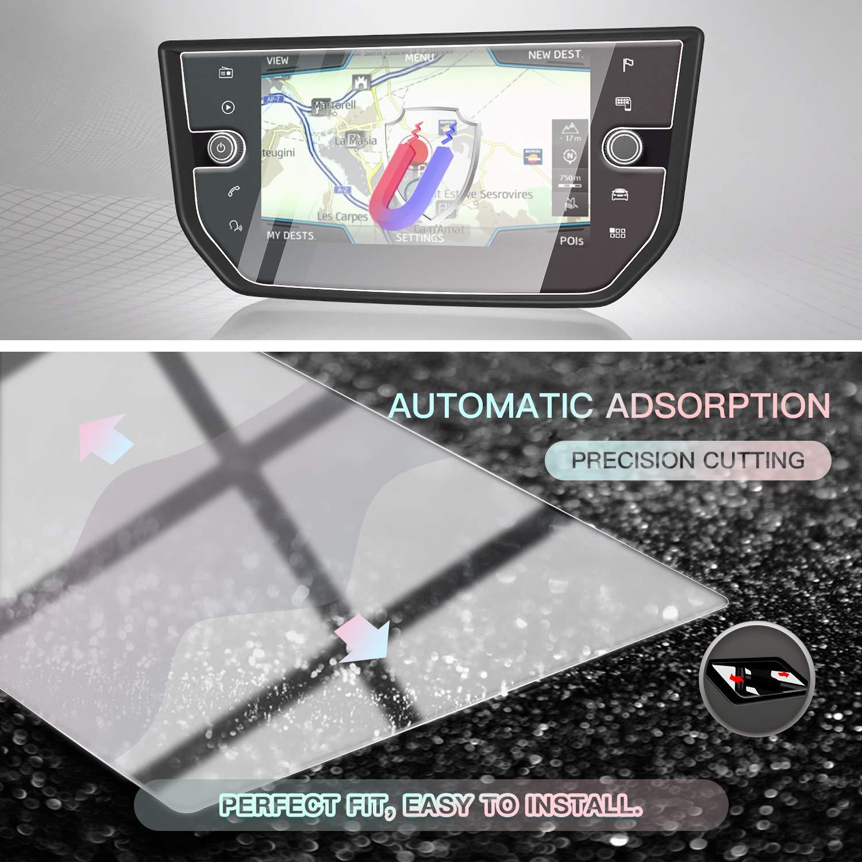 CDEFG per Seat Arona Car Navigation Glass Pellicola protettiva 9H Scratch Resistant Anti-Fingerprint GPS Proteggi Schermo Trasparente Screen Protector