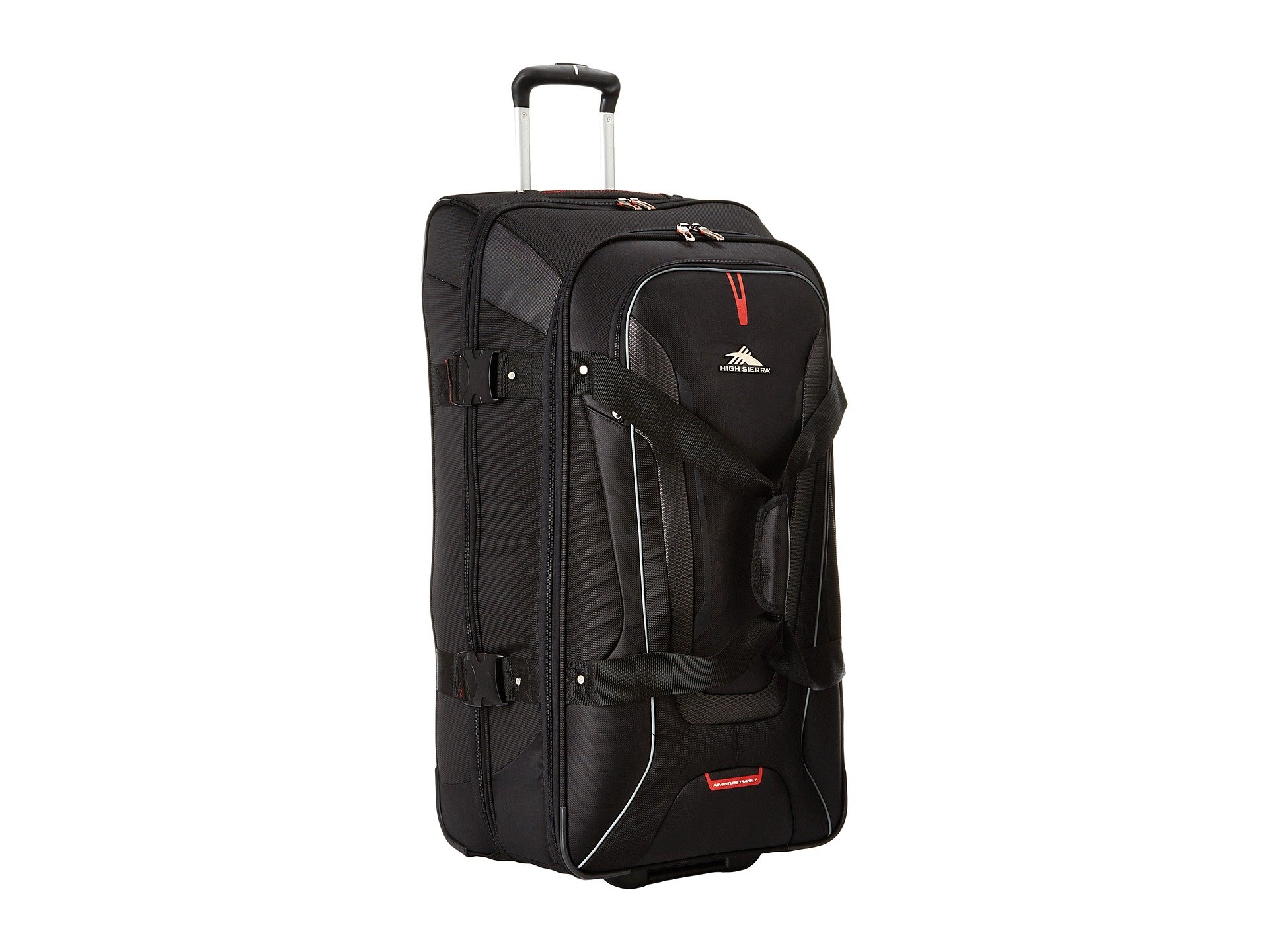High Sierra 57020-1041 AT7 Wheeled Duffel with Backpack Straps, Black, 32-Inch