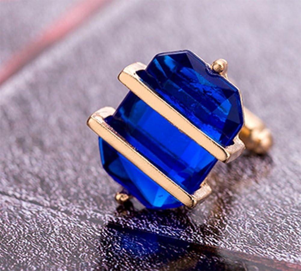 Demarkt 1 Paire Boutons de Manchette en Verre de Cristal Accessoires de Bijoux pour Hommes cr/éatifs de Mode Bleu