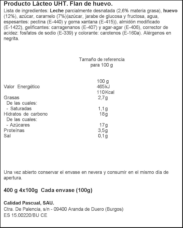 Pascual - Cream caramel - Flan de huevo - 400 g: Amazon.es ...