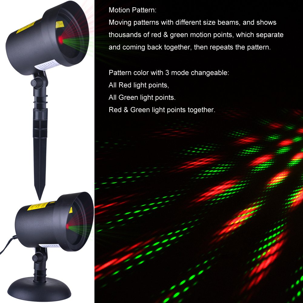 cerchio ab ll1604 outdoor waterproof christmas motion lights star projector for garden christmas decoration lights as seen on tv pattern beam holiday - Christmas Motion Lights